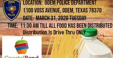 2nd Food Giveaway – Odem Police Department