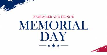Memorial Day Observance – City Hall Closed on Monday, May 25th, 2020