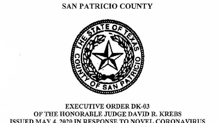 Executive Order DK-03 of the Honorable Judge David R. Krebs