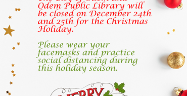 Notice of Closure – Christmas 2020