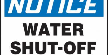 Notice of Water Shut-Off – Saturday, April 17th (8am-1pm)